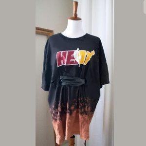 Women's Vintage Bleach Ombré NBA T-shirt Dress